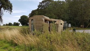 "A Type 22 Pillbox at the Stowlangtoft ""X"" Roads"