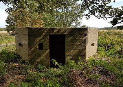 "A Type 22 Pillbox at the Stowlangtoft ""Y"" Junction"
