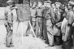 Home Guard Members are taught simple German phrases, 1940